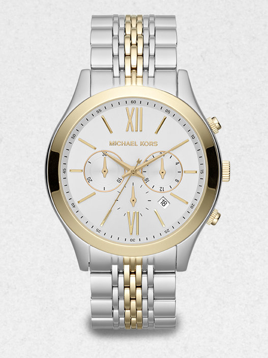 michael kors twotone stainless steel chronograph in