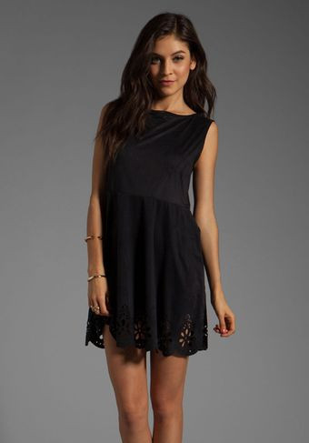 Mink Pink Paper Doll Faux Suede Dress - Lyst