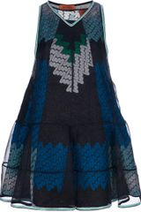 Missoni Layered Pattern Knit Dress - Lyst