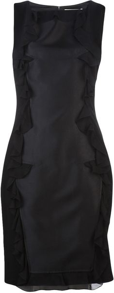 Prabal Gurung Ruffled Front Dress - Lyst