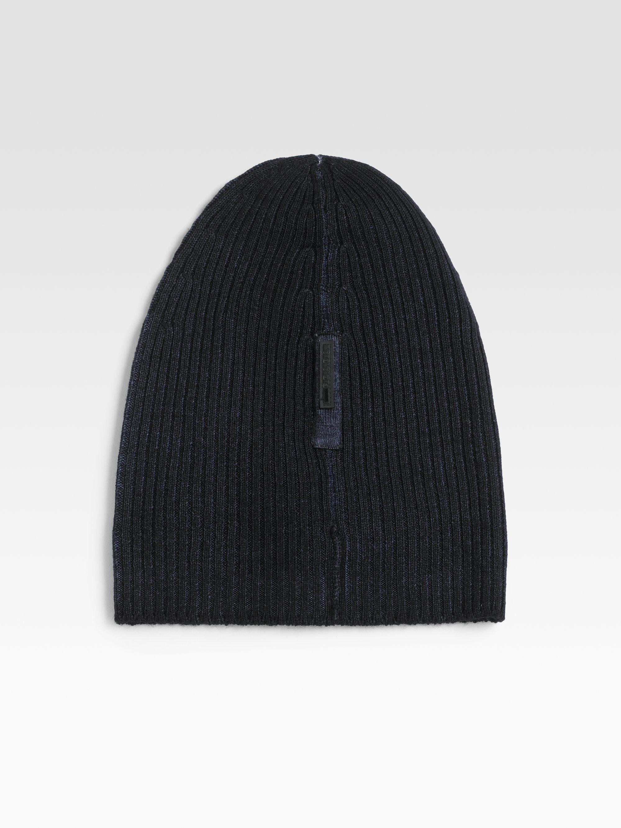 cfb661eb96e Lyst - Prada Wool Skull Cap in Blue for Men