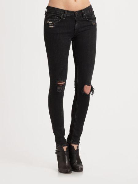 Rag u0026 Bone The Skinny Jeans in Black (charcoal) | Lyst
