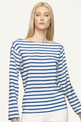 Ralph Lauren Black Label Striped Silk Top - Lyst