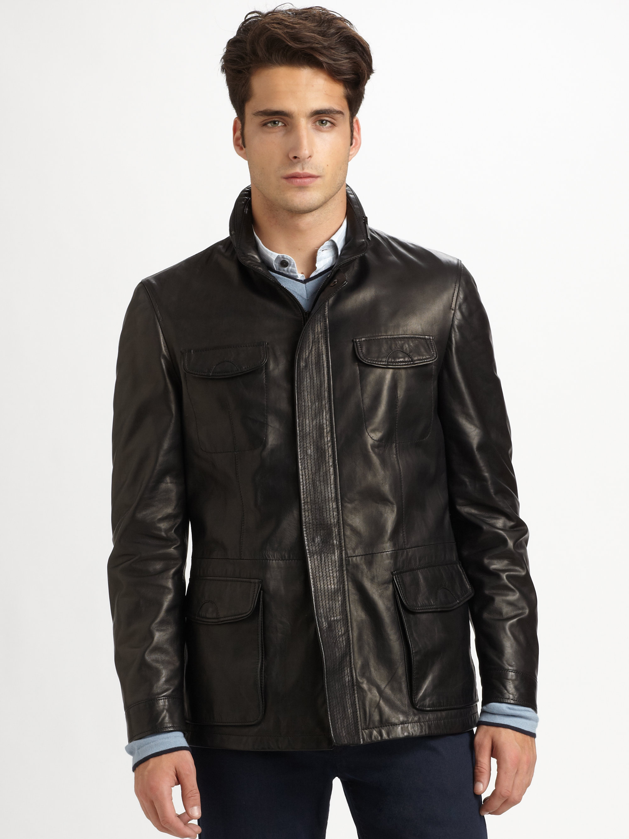 While these jackets were originally made to protect riders from the whipping wind, the mystique and sense of rebellion that have developed in association with motorcycle jackets make this type of Men's Leather Outerwear a popular choice, even for men who have no .