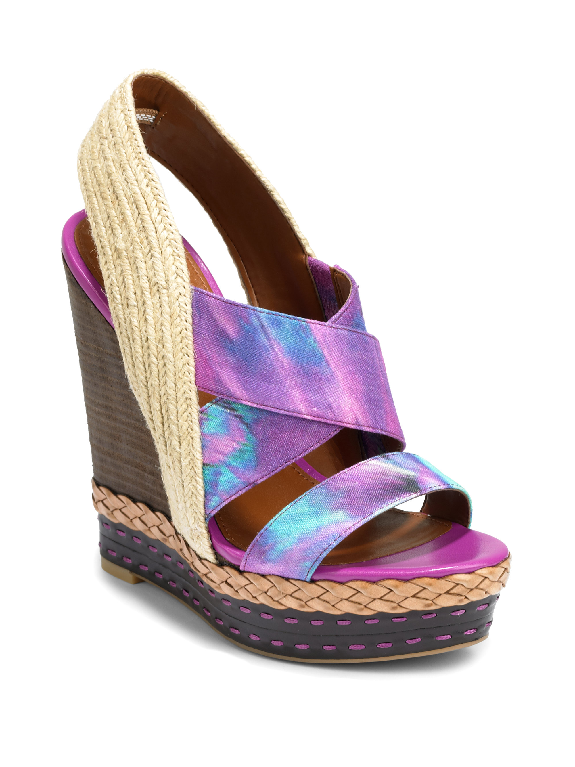 boutique 9 canvas leather slingback wedge sandals