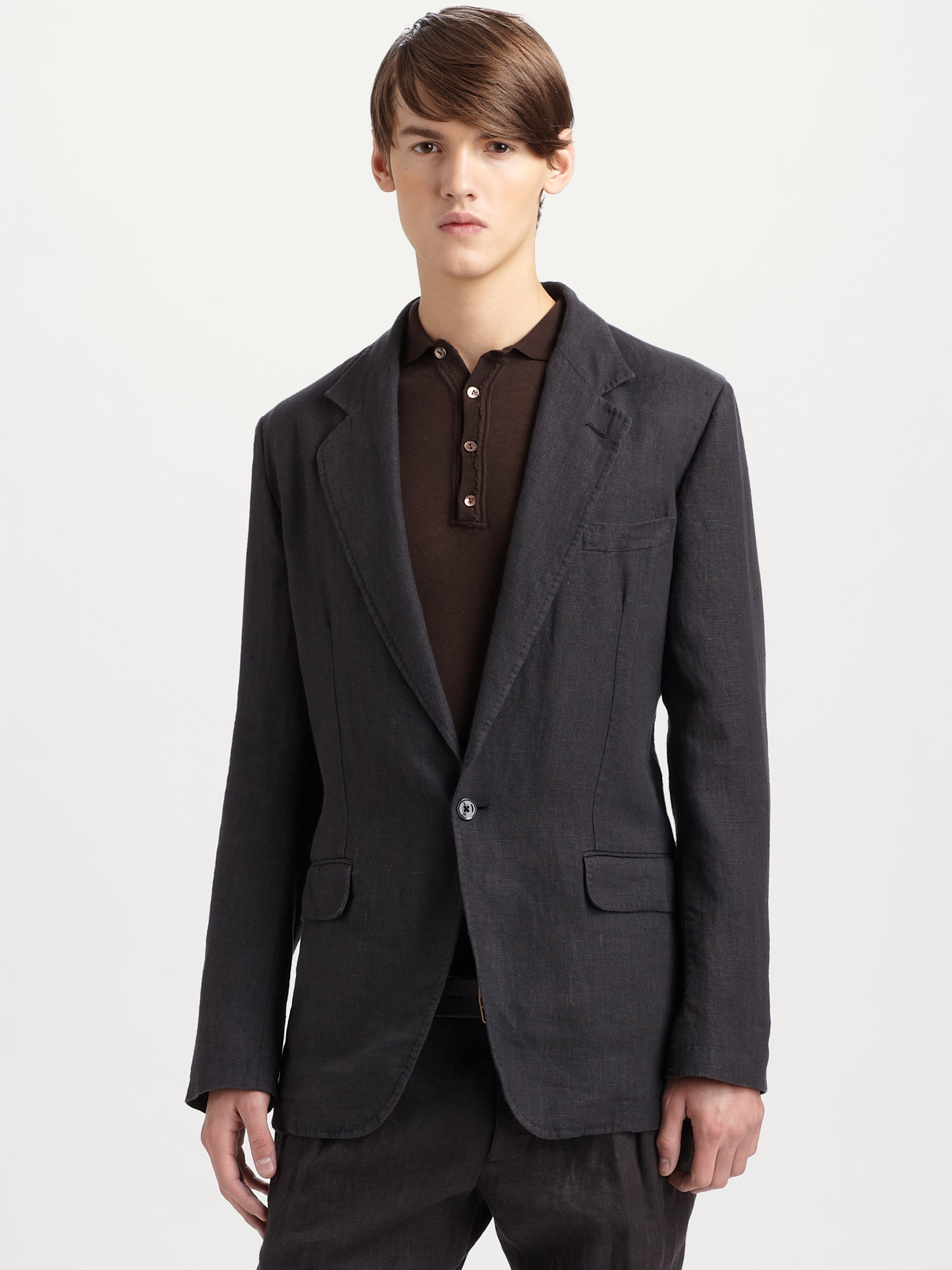 Dolce & gabbana Linen Blazer in Black for Men | Lyst