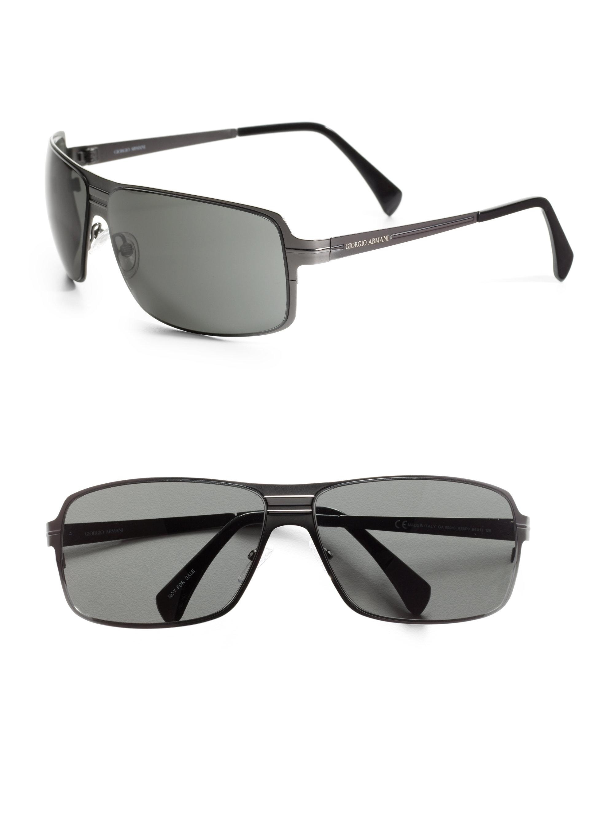 2b7b17e39fe7 Giorgio Armani Shield Sunglasses in Black for Men (dark ruthenium)