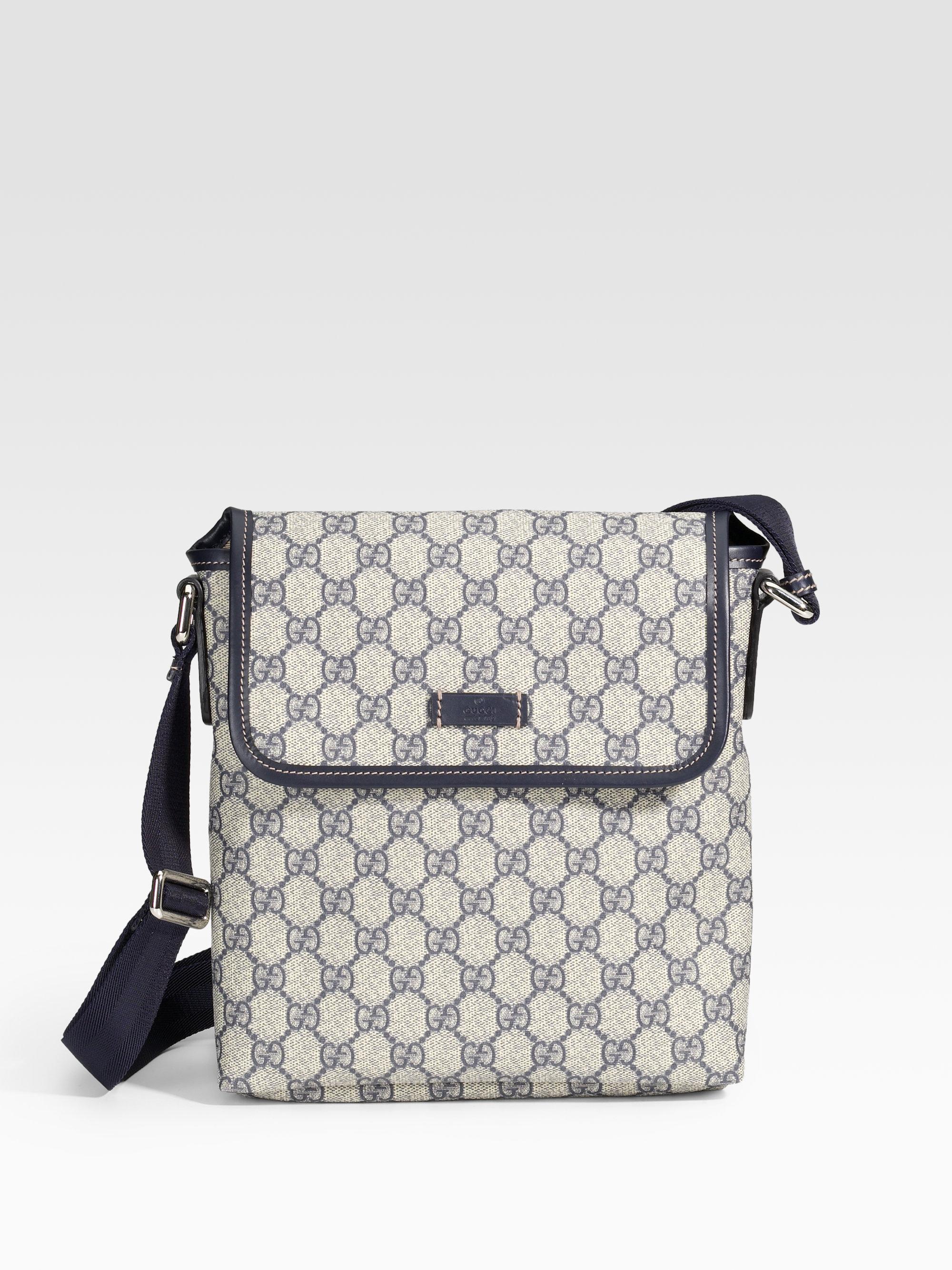 f3f8a91d86e65f Gucci Flap Messenger Bag in Blue for Men - Lyst