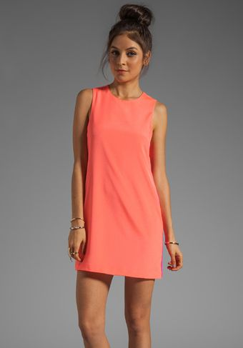 Naven Sporty Twiggy Dress in Neon Salmon/Pop Pink - Lyst
