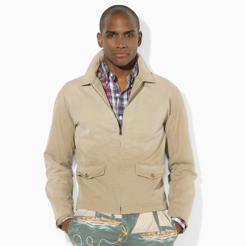 Polo ralph lauren Cumberland Flight Jacket in Natural for Men | Lyst