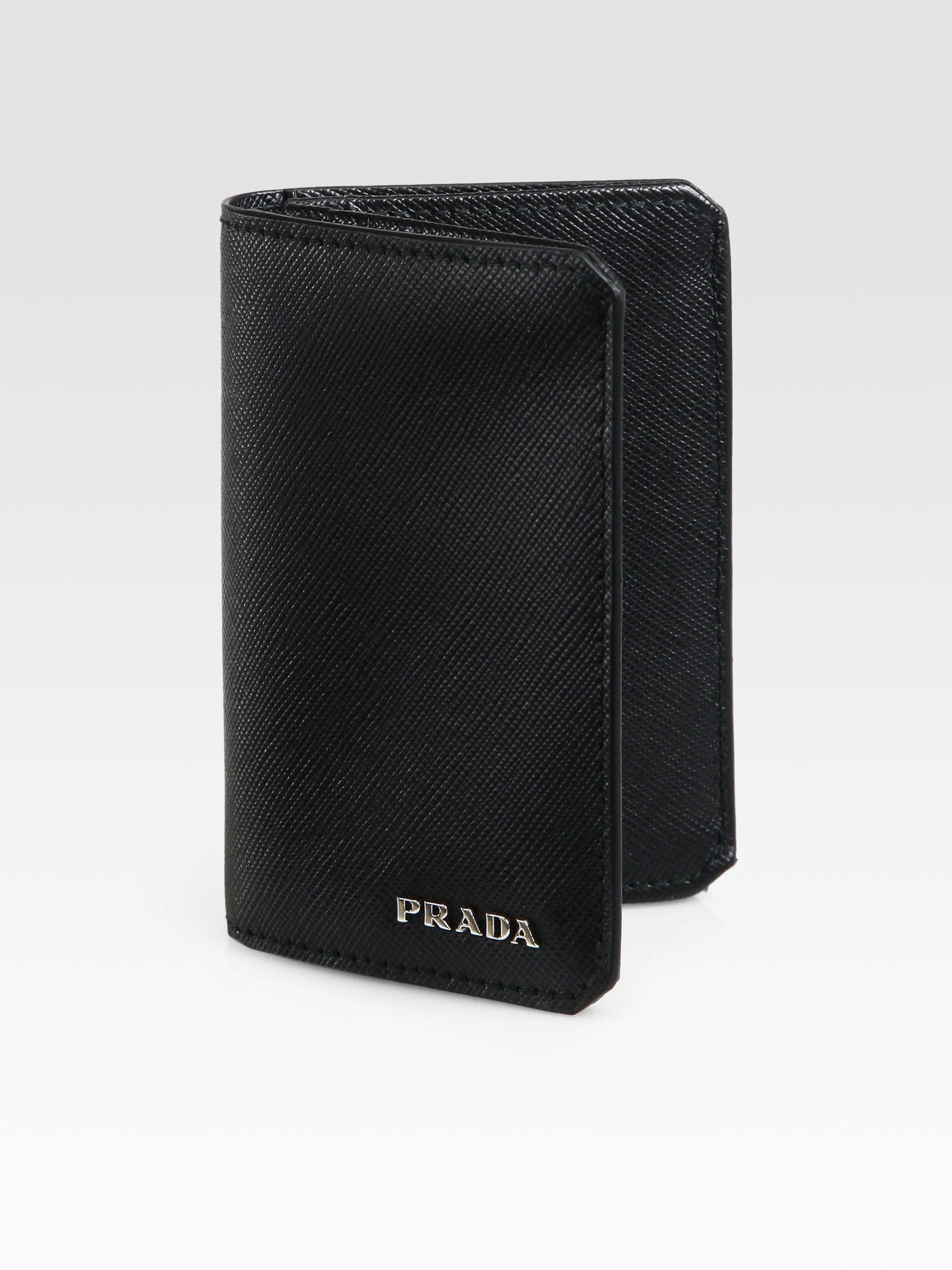 Prada credit card wallet best photo wallet justiceforkenny lyst prada saffiano leather credit card case in black for men colourmoves
