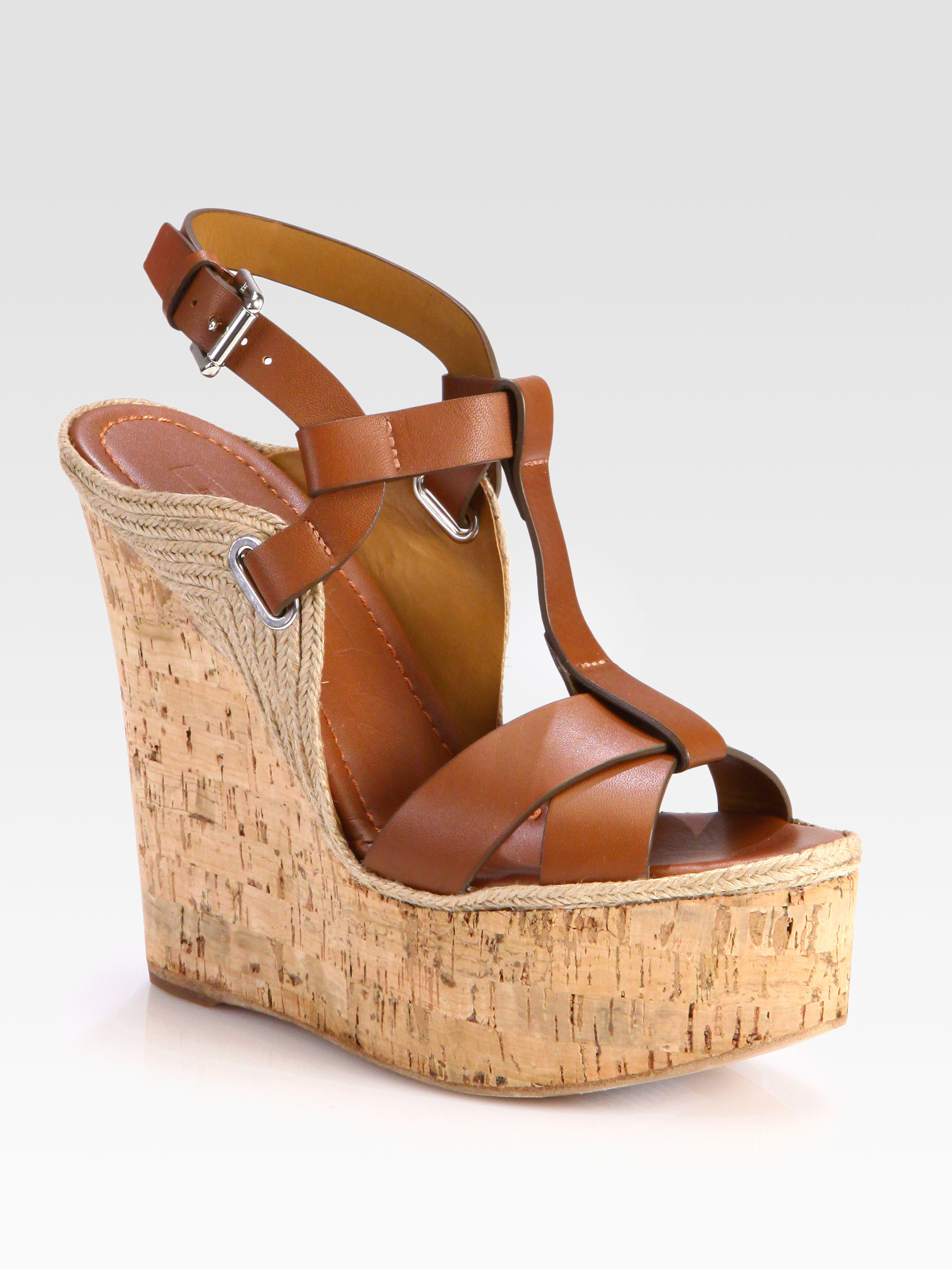 clearance cheap Ralph Lauren Leather Wedge Sandals sale 2014 newest GQjLKa