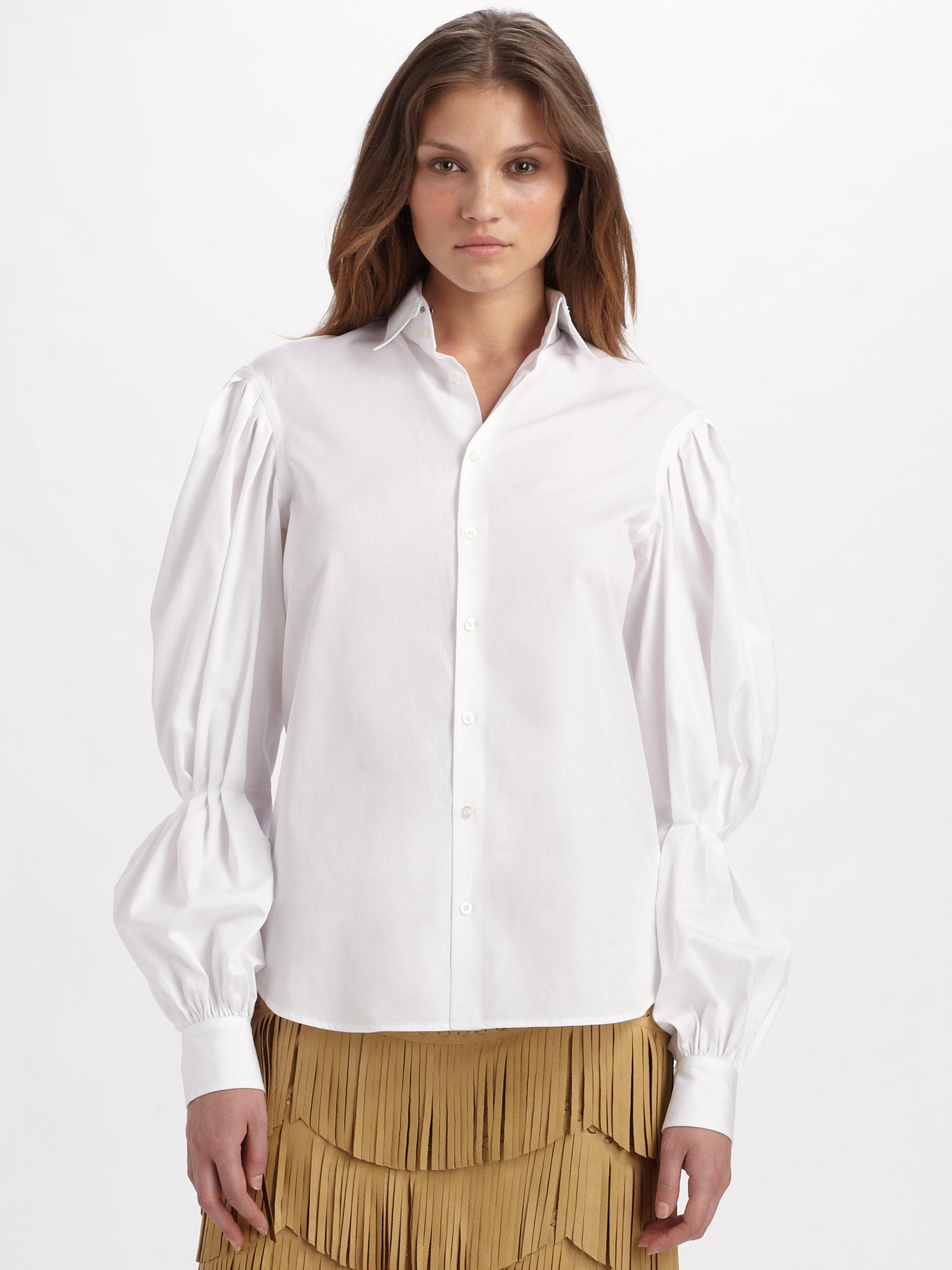 lyst ralph lauren collection cotton broadcloth desmond