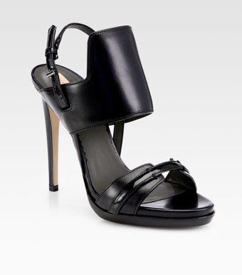 Reed Krakoff Solar Leather Platform Sandals - Lyst