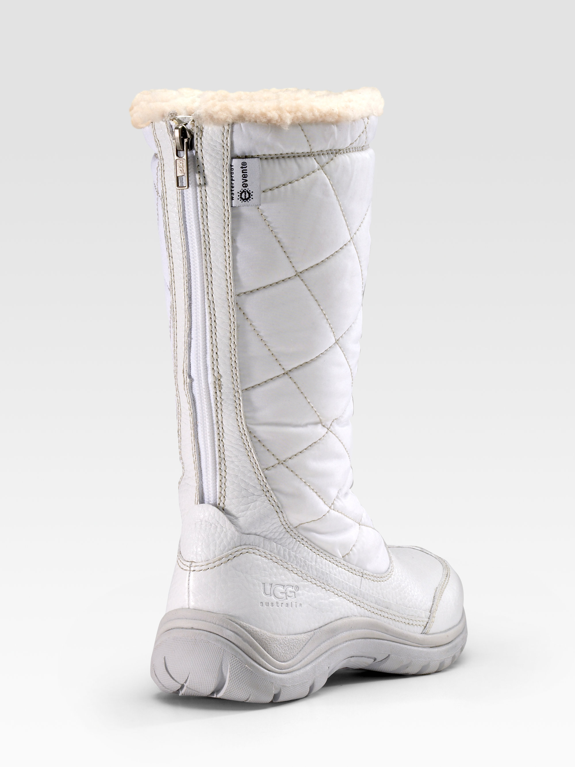 Ugg Quilted Nylon Tall Boots In White Lyst