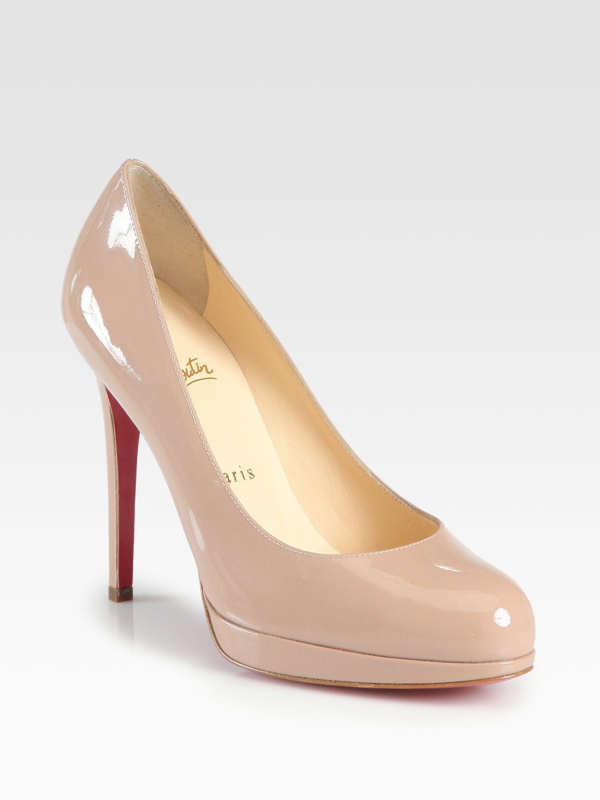 9e751e38b89 Lyst - Christian Louboutin New Simple 120 Patent Leather Pumps in ...