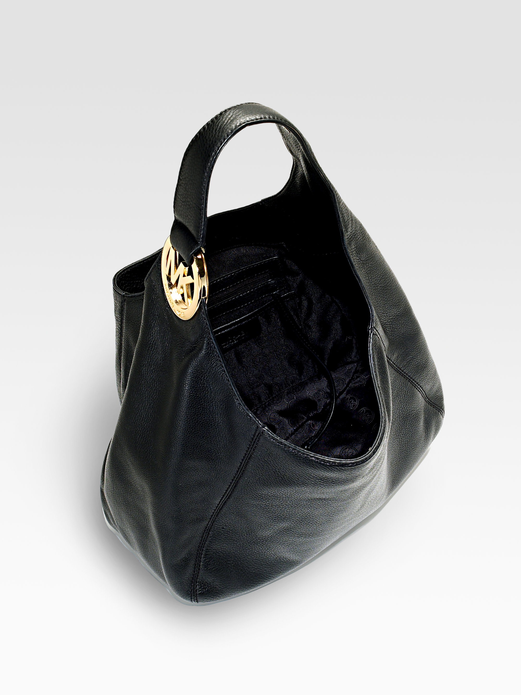 Michael michael kors Fulton Large Shoulder Bag in Black | Lyst