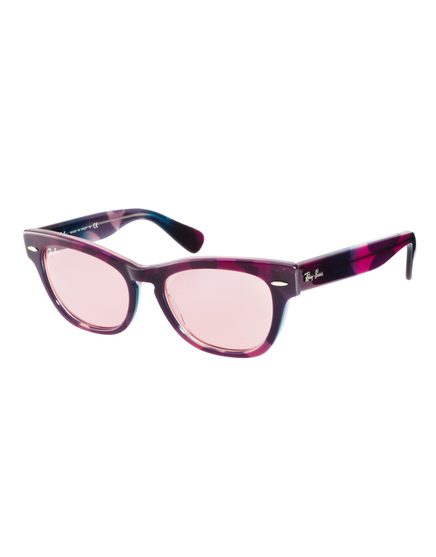 Ray Ban Small Frame Glasses : Ray-ban Violet Larami Small Frame Sunglasses in Purple for ...