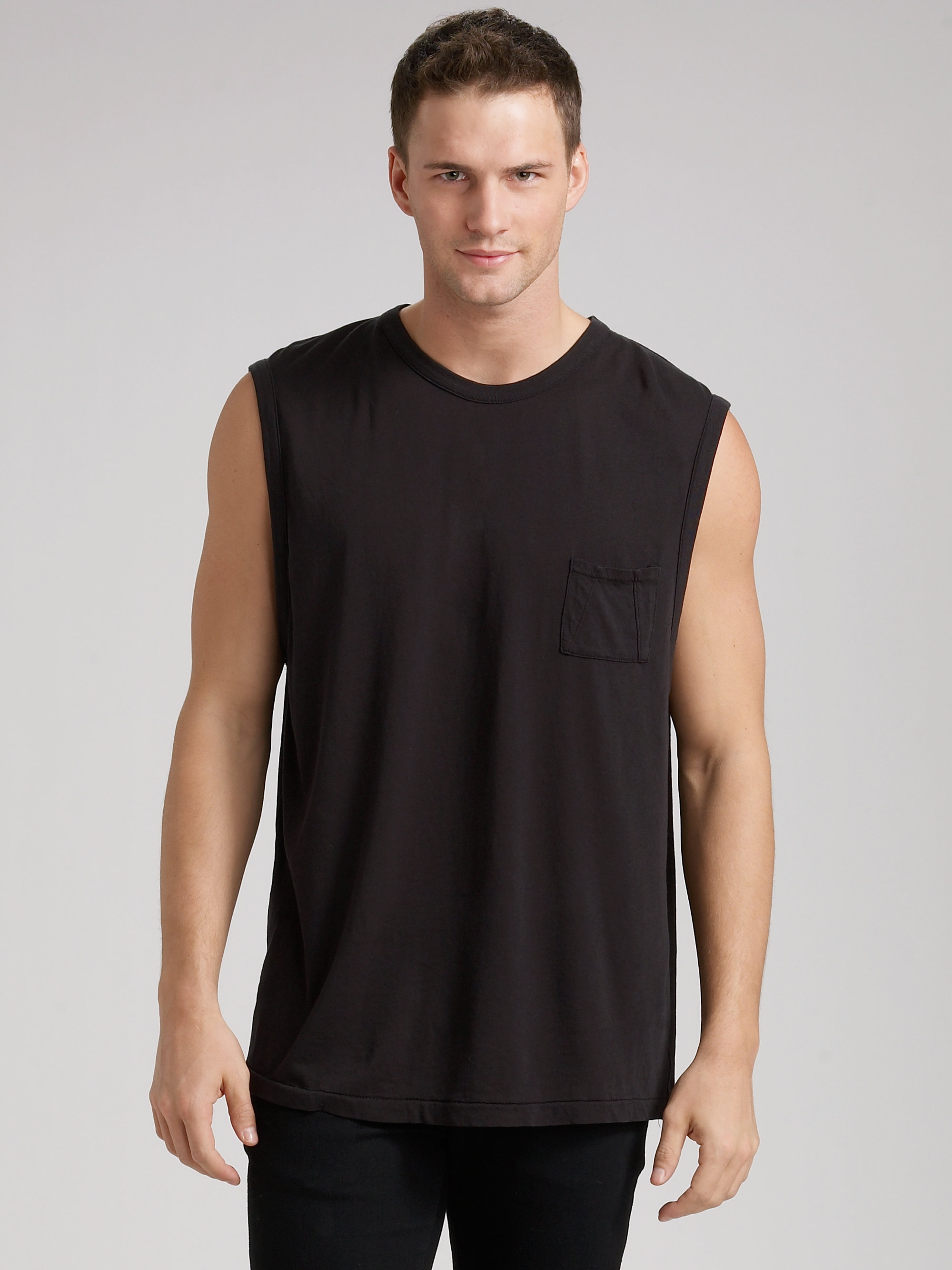 55324263 T By Alexander Wang Pima Muscle Tee in Black for Men - Lyst