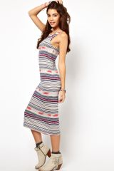 ASOS Collection Bodycon Dress in Stripe Navaho Print - Lyst