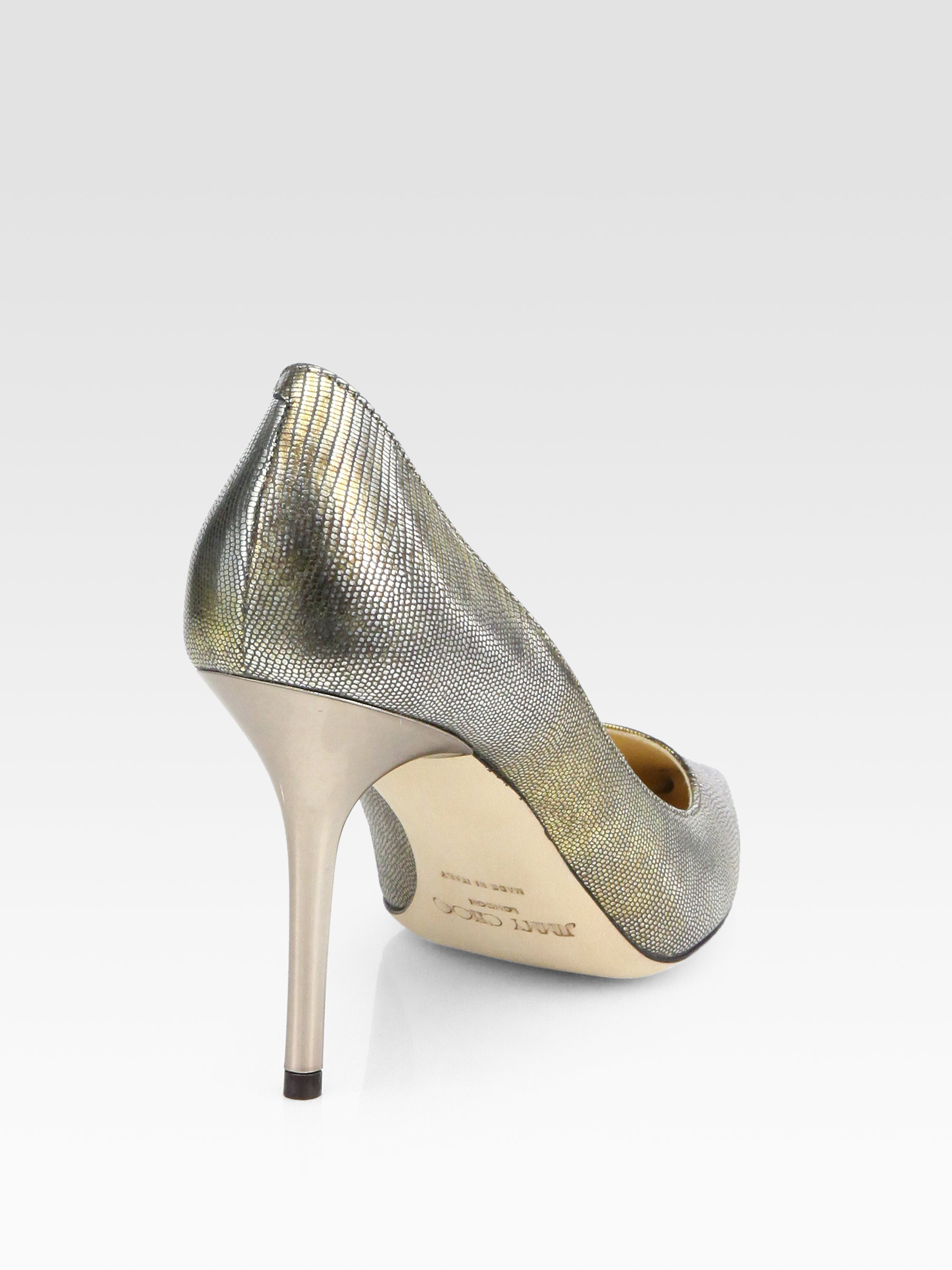 outlet shop Jimmy Choo Metallic Agnes Pumps clearance discounts outlet how much 100% original cheap price discount real LoFmIrk1