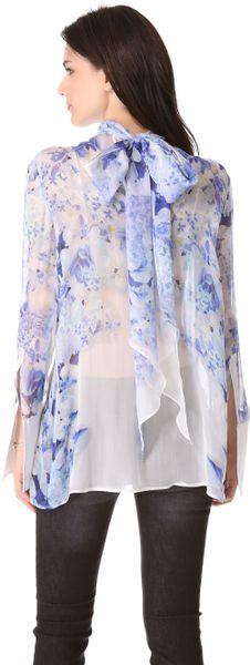 Donna Karan Silk Organza Tunic Blouse 83