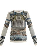 Mary Katrantzou Rodizo Intarsia Knit Sweater - Lyst