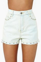 Nasty Gal Overload Denim Shorts - Lyst