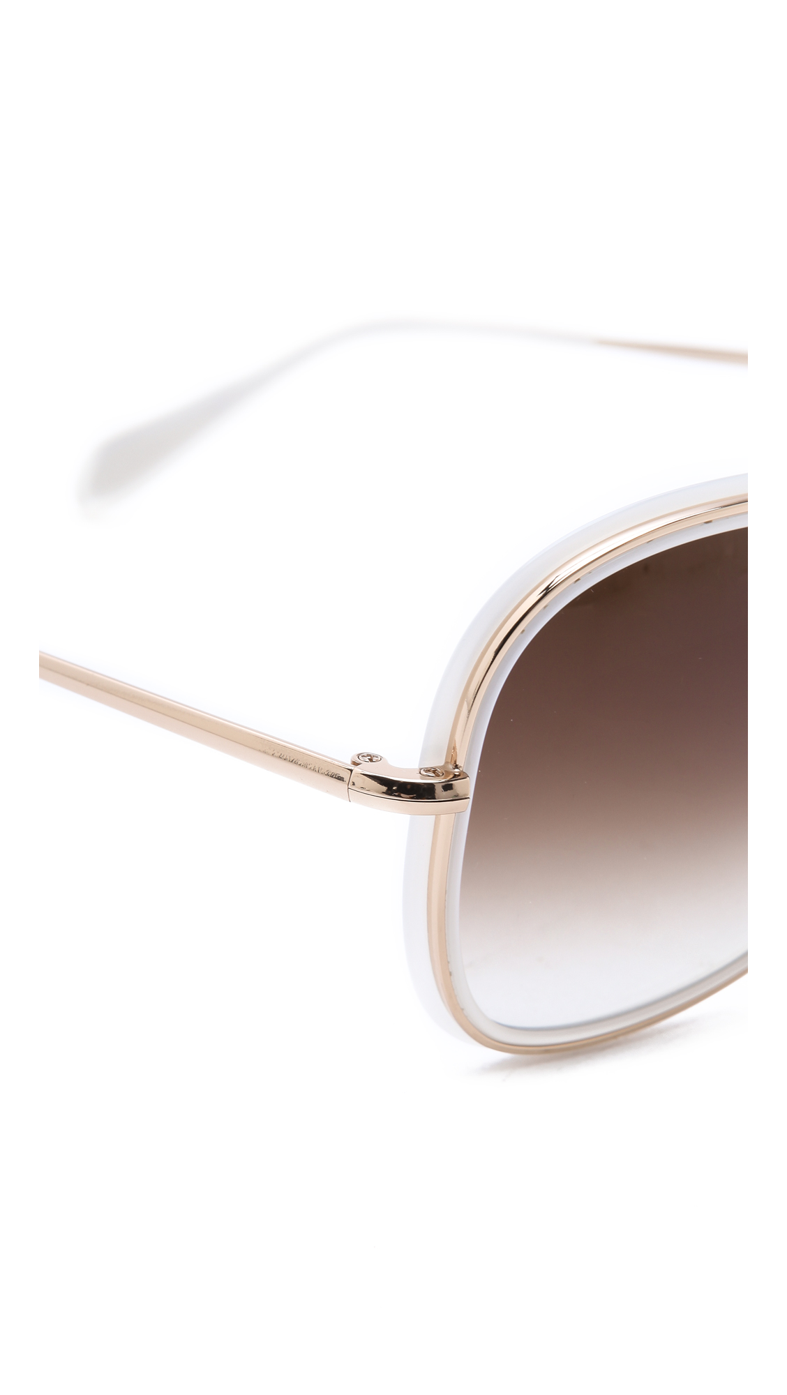 Oliver Peoples Emely Sunglasses  oliver peoples emely sunglasses in white lyst