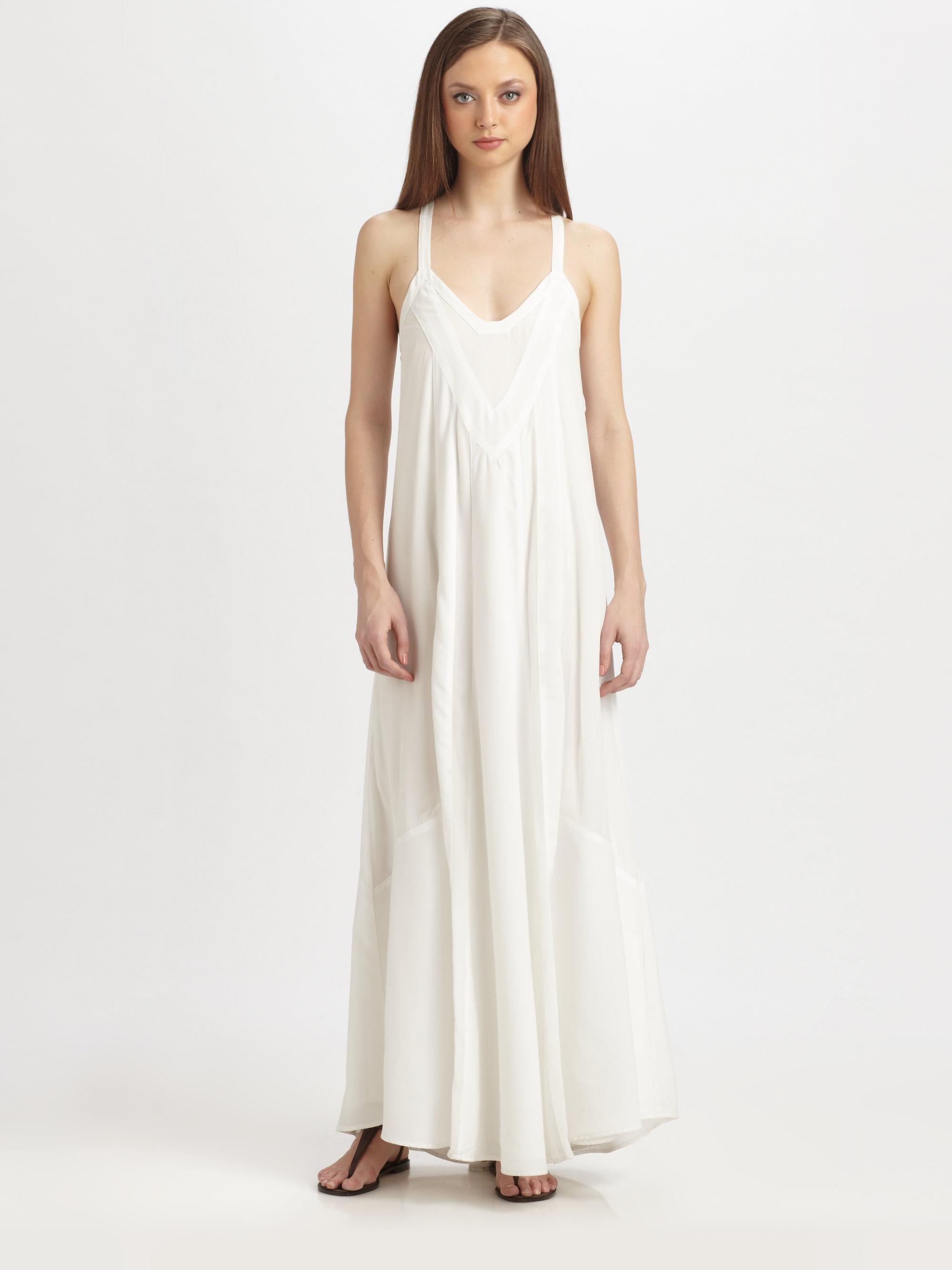 b2993823d Pjk Patterson J. Kincaid Manning Maxi Dress in White - Lyst