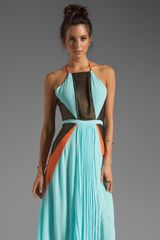 Suboo Pleated Maxi Dress in Mint - Lyst