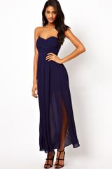 Tfnc Maxi Dress with Thigh Split - Lyst