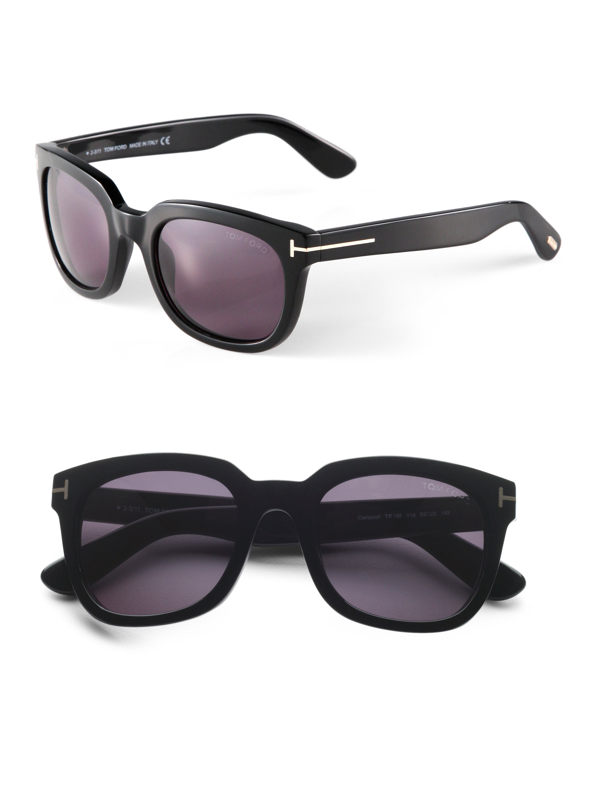 Tom ford Campbell Sunglasses in Black for Men | Lyst