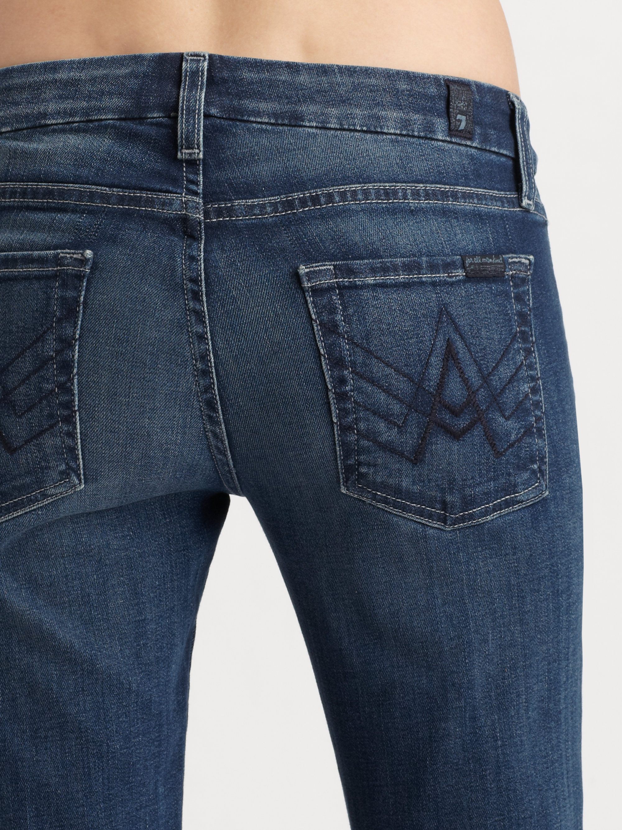 7 for all mankind A Pocket Jeans in Blue | Lyst
