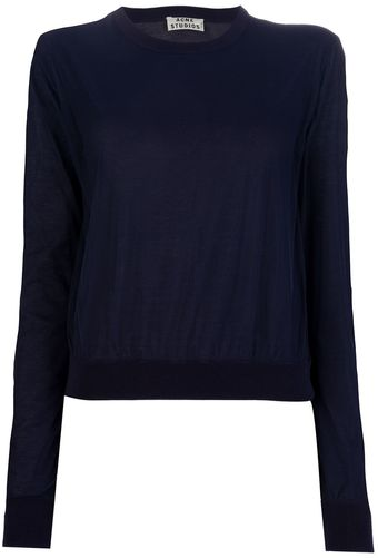 Acne Lia Tulle Sweater - Lyst