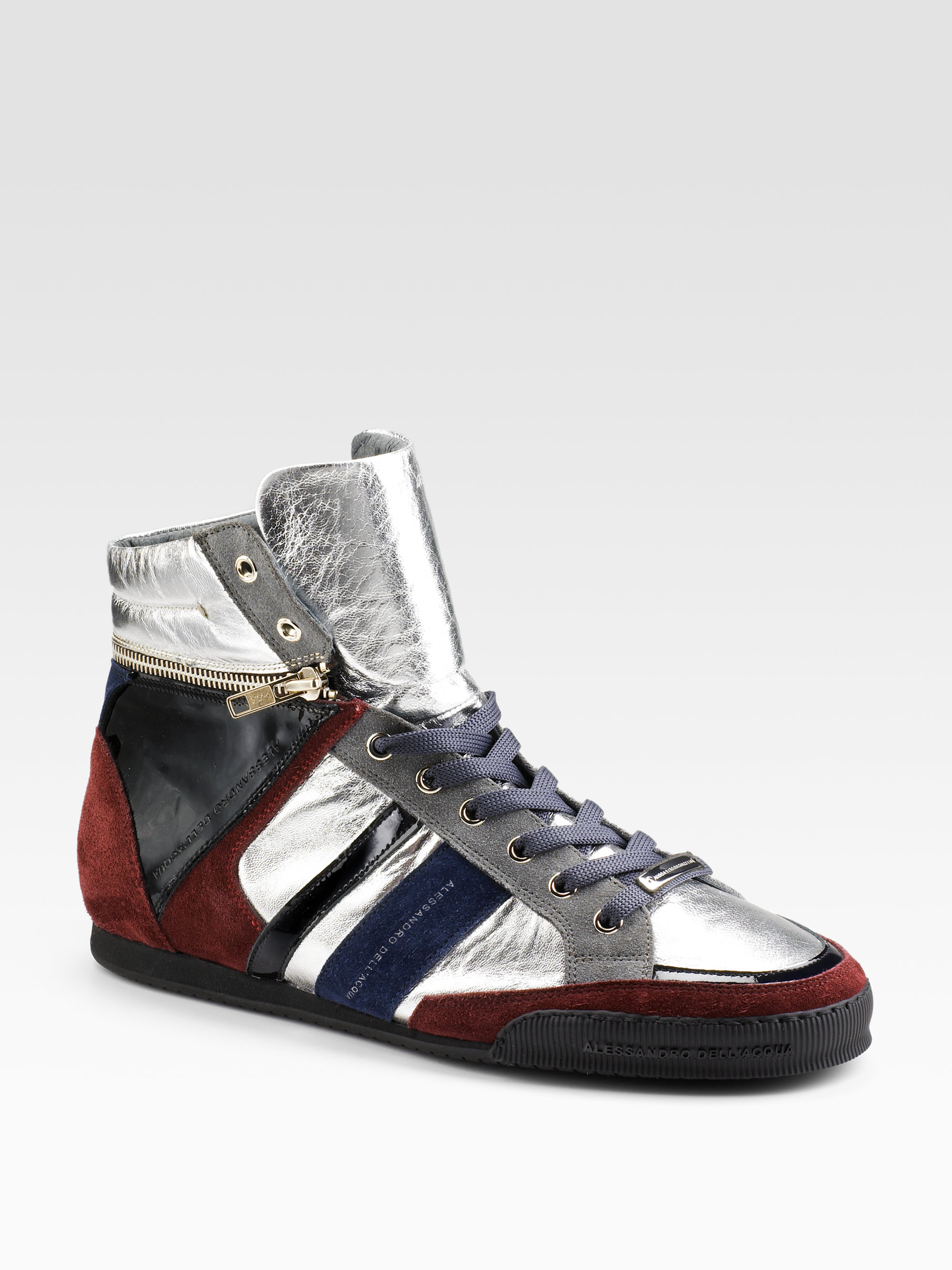 Alessandro Dell Acqua Convertible Hightop Sneakers In