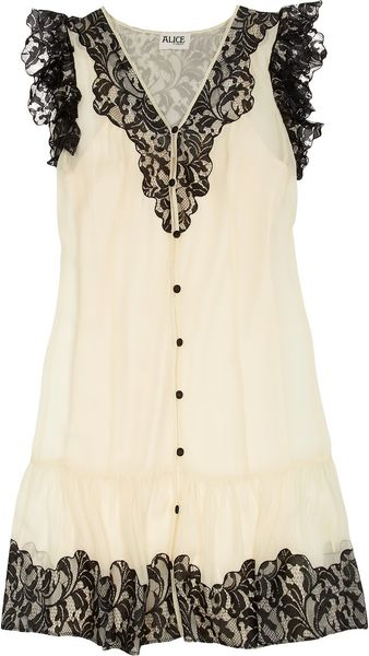 Alice By Temperley Vanita Lace and Silkchiffon Dress - Lyst