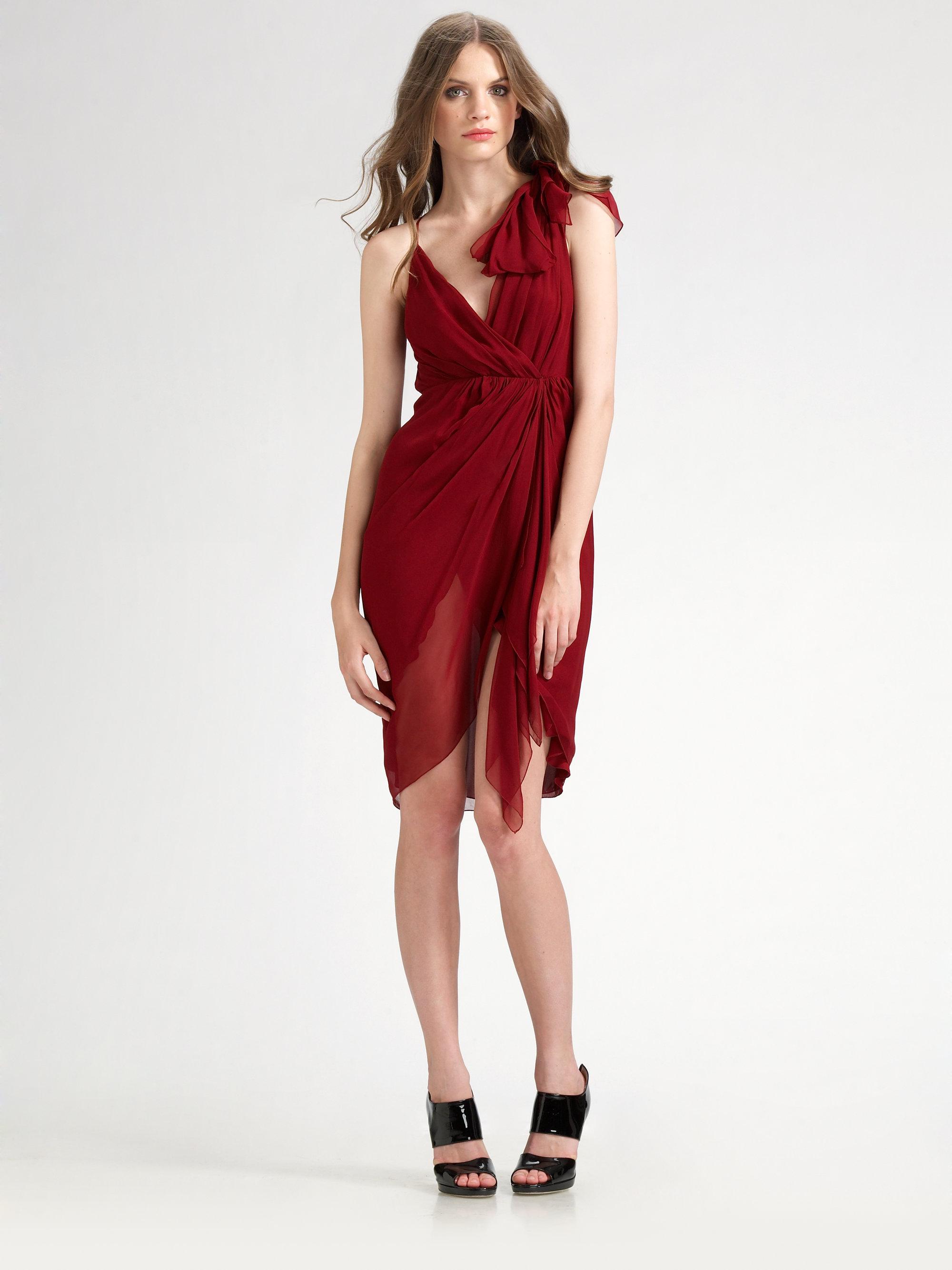 spaghetti strap dress - Red Alice & Olivia ZDhKc