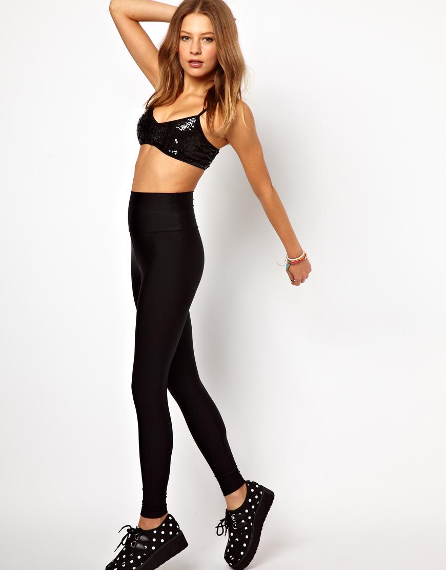 American apparel High Shine High Waist Leggings in Black ...