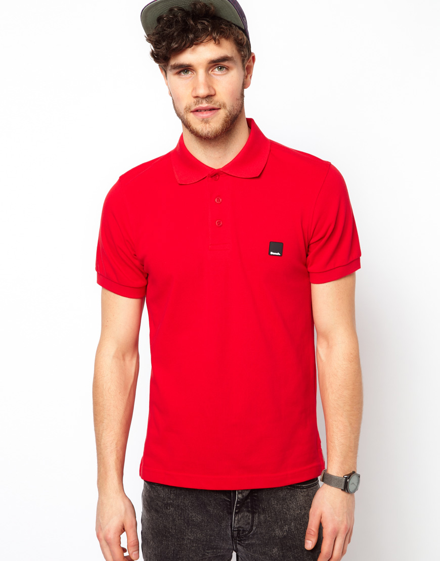 Lyst bench polo shirt in red for men Man in polo shirt
