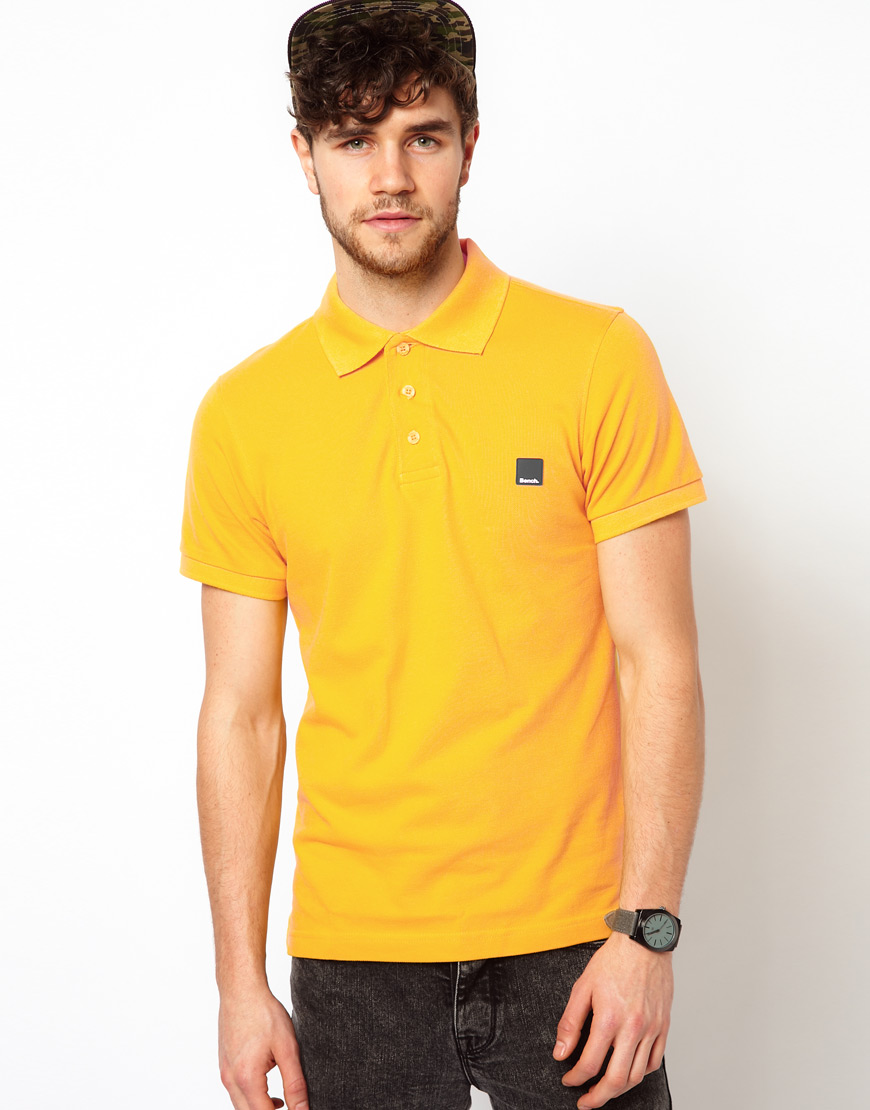 Lyst bench polo shirt in yellow for men Man in polo shirt