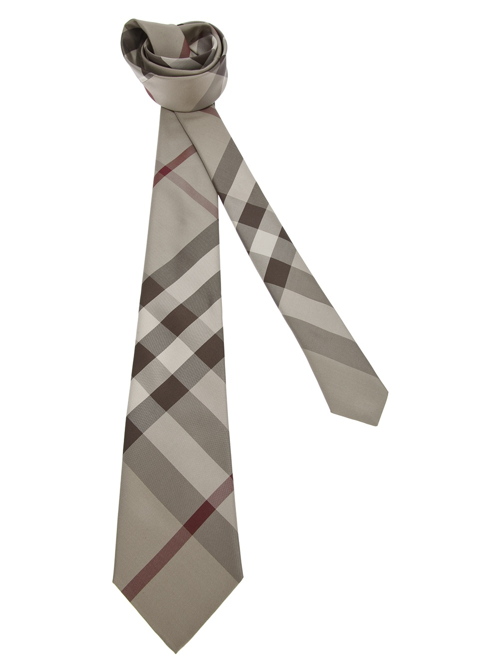 burberry rohan tie in gray for grey lyst