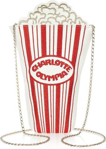 Charlotte Olympia Movie Night Embroidered Leather Shoulder Bag - Lyst