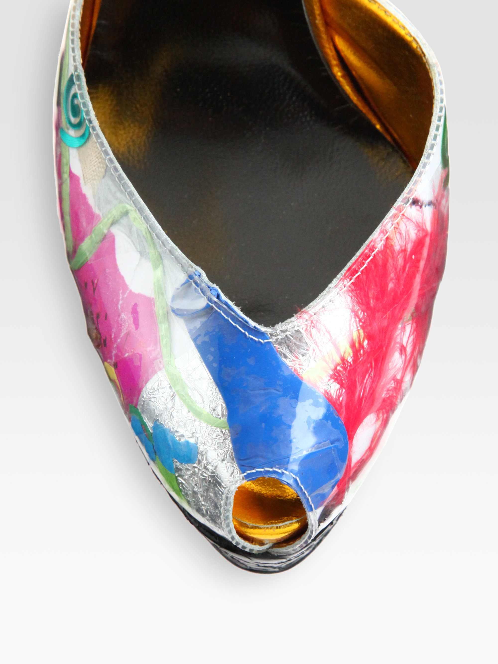 louis vuitton fake shoes - Christian louboutin No 299 Trash Patent Python Sandals in ...