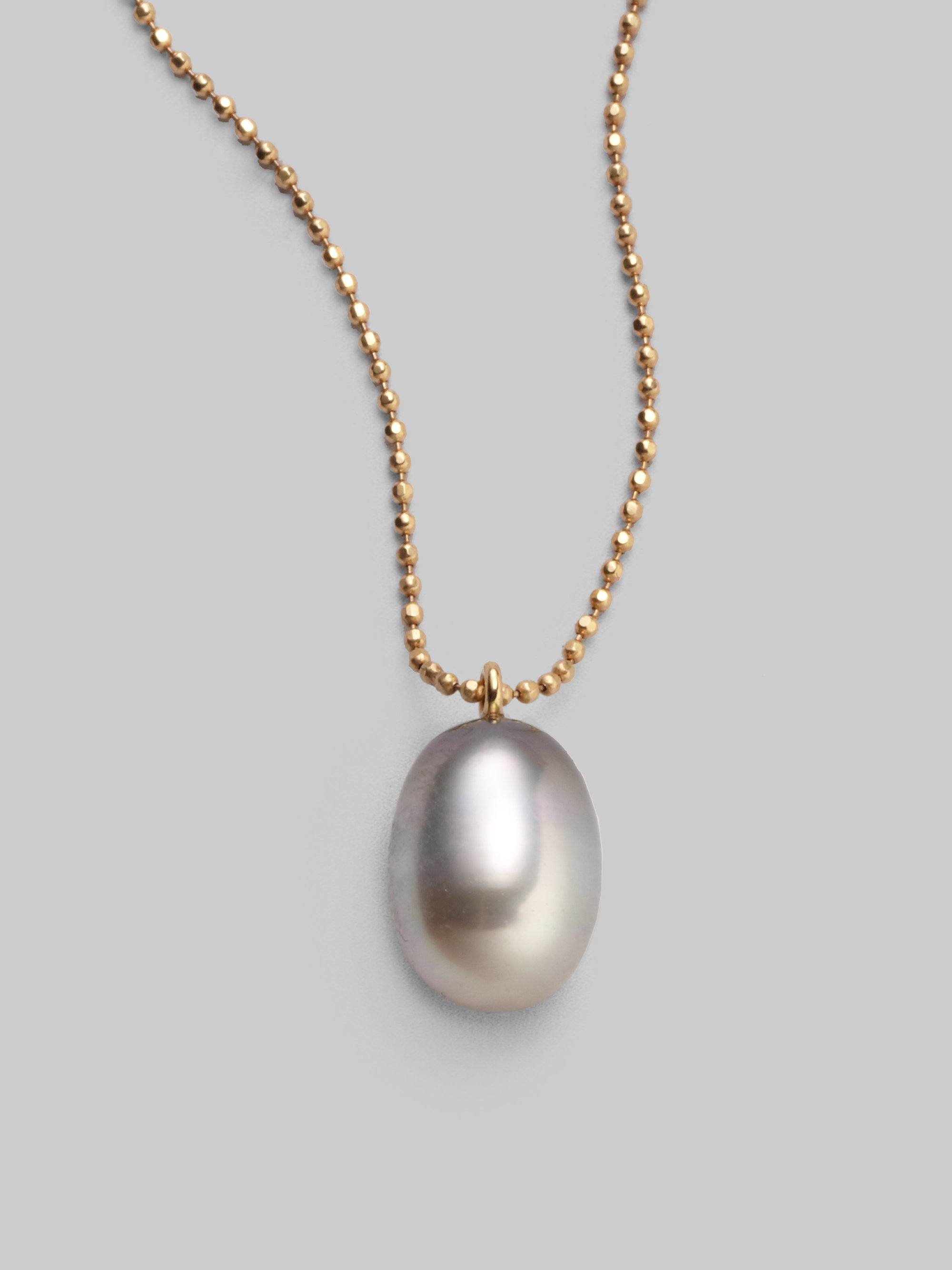 Lyst dominique cohen tahitian pearl 18k gold drop pendant necklace gallery aloadofball Image collections