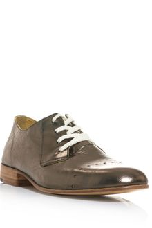 Esquivel Metallic Perforatedleather Shoe - Lyst