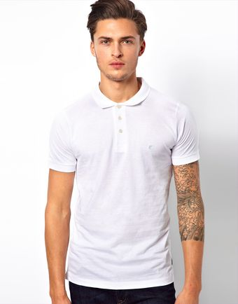 French Connection Jersey Polo Shirt - Lyst