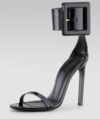 Gucci Victoire Buckle Sandals - Lyst