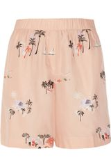 J.Crew Vacationland Printed Silk Shorts - Lyst