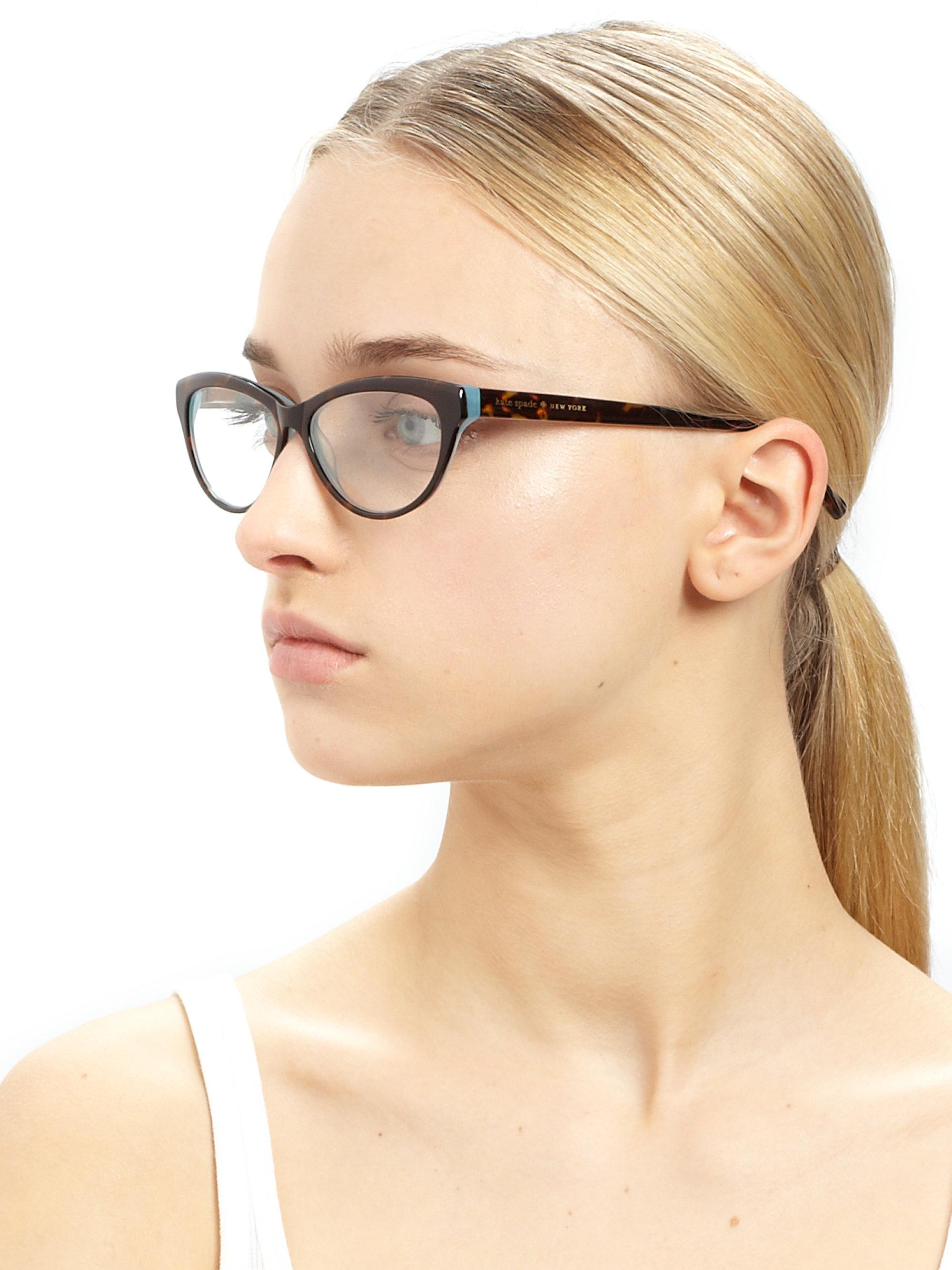 5f4cd96f57b Lyst - Kate Spade Abena Catseye Reading Glasses in Black
